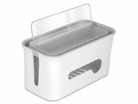 Delock Cabel Management box with storage case white / grey