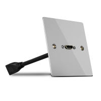 Lindy Single Gang HDMI Wall Plate, Metal