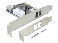 Delock PCI Express Card > 2 x external / 1 x internal FireWire A
