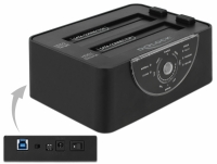 Delock USB 3.0 Dual Docking Station for 2 x SATA HDD / SSD with Clone and Erase Function in Metal Housing