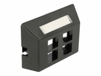 Delock Keystone Outlet 4 Port for furniture installation