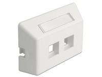 Delock Keystone Outlet 2 Port for furniture installation