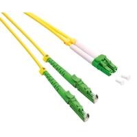 ROLINE FO Jumper Cable Duplex, 9/125µm, OS2, LSH/LC, APC Polish, LSOH, yellow, 2