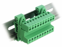 Delock Terminal Block Set for DIN Rail 10 pin with pitch 5.08 mm angled