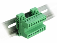 Delock Terminal Block Set for DIN Rail 8 pin with pitch 5.08 mm angled