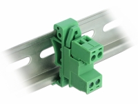 Delock Terminal Block Set for DIN Rail 2 pin with pitch 5.08 mm angled