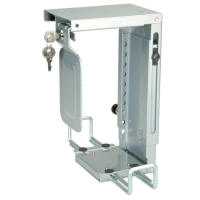 ROLINE Mini PC Holder, lockable, silver