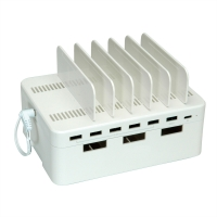 VALUE USB Charging Station, 7 Port, with Storage Box