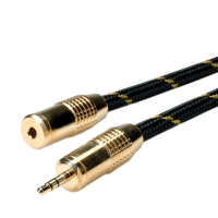 ROLINE GOLD 3.5mm Audio Extension Cable, M/F, 2.5 m