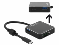 Delock 3 Port USB 3.1 Gen 1 Hub with USB Type-C™ Connection and SD + Micro SD Slot