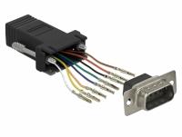 Delock Adapter Sub-D 9 pin male to RJ45 female Assembly Kit black