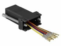 Delock Adapter Sub-D 9 pin female to RJ45 female Assembly Kit black