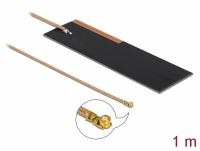 Delock LPWAN Antenna MHF® I plug 1 - 2 dBi RG-178 1 m PCB internal self adhesive