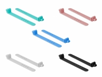 Delock Silicone Cable Ties reusable 10 pieces assorted colors