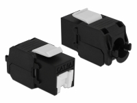 Delock Keystone Module RJ45 jack > LSA Cat.6A UTP black dust cover