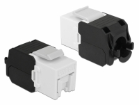 Delock Keystone Module RJ45 jack > LSA Cat.6A UTP white dust cover