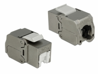 Delock Keystone Module RJ45 jack > LSA Cat.6A STP dust cover