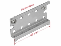 Delock DIN Rail Stainless Steel with End Stop for Wall Mounting