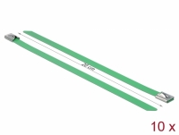 Delock Stainless Steel Cable Ties L 200 x W 7.9 mm green 10 pieces