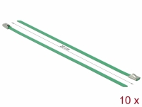 Delock Stainless Steel Cable Ties L 200 x W 4.6 mm green 10 pieces