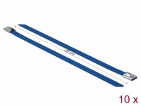 Delock Stainless Steel Cable Ties L 200 x W 7.9 mm blue 10 pieces