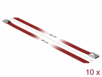 Delock Stainless Steel Cable Ties L 400 x W 7.9 mm red 10 pieces