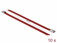Delock Stainless Steel Cable Ties L 200 x W 7.9 mm red 10 pieces