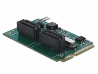 Delock Mini PCIe Converter to 2 x SATA with RAID