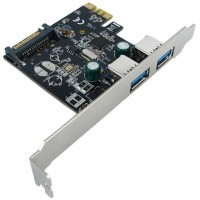 PCI-Express Karte, 2 portu USB 3.2 Gen 1, 5 Gbit/s Value
