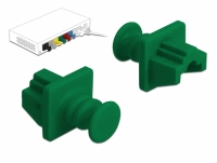 Delock Dust Cover for RJ45 jack 10 pieces green