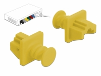 Delock Dust Cover for RJ45 jack 10 pieces yellow