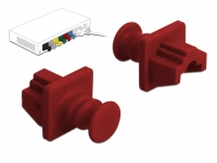 Delock Dust Cover for RJ45 jack 10 pieces red