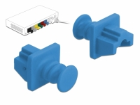 Delock Dust Cover for RJ45 jack 10 pieces blue