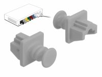 Delock Dust Cover for RJ45 jack 10 pieces grey