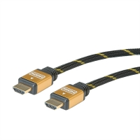 ROLINE GOLD HDMI High Speed Cable + Ethernet, M/M, 7.5 m