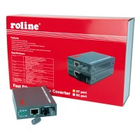 ROLINE RC-100FX/ST Fast Ethernet Converter, RJ-45 to ST, Loop-back