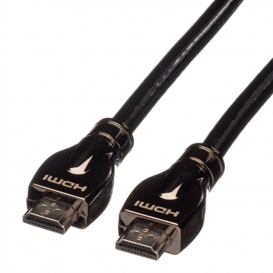 ROLINE HDMI Ultra HD Cable + Ethernet, M/M, black, 15.0 m