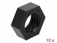 "Navilock GNSS Nut Nylon 15.875 mm (5/8""-11 UNC) 10 pieces black"