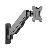 VALUE LCD Monitor Arm, Desk Clamp, 4 Joints, Pivot, black