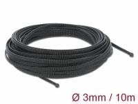 Delock Braided Sleeving stretchable 10 m x 3 mm black