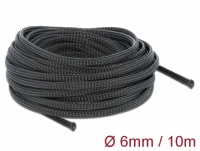 Delock Braided Sleeving stretchable 10 m x 6 mm black