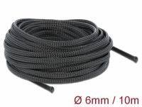 Delock Braided Sleeving stretchable 10 m x 6 mm black
