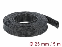 Delock Braided Sleeving stretchable 5 m x 25 mm black