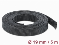 Delock Braided Sleeving stretchable 5 m x 19 mm black