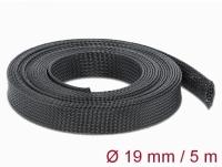Delock Braided Sleeving stretchable 5 m x 19 mm black