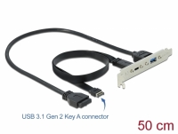 Delock Slot Bracket with 1 x USB Type-C™ and 1 x USB Type-A Port