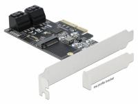 Delock 4 port SATA and 1 slot M.2 Key B PCI Express x4 Card - Low Profile Form Factor