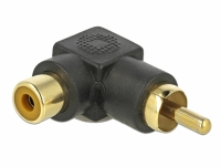 Delock RCA Adapter male to female angled
