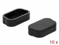 Delock Dust cover for Sub-D 9 / Sub-D 15 male 10 pieces black