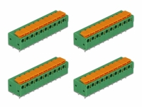 Delock Terminal block with push button for PCB 10 pin 5.08 mm pitch horizontal 4 pieces